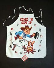 Country Western Cowboy  Gift Idea- western Apron bbq party fun