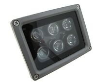 6LED 850nm IR Infrared LED Light For night verison camera security 60D 12VDC