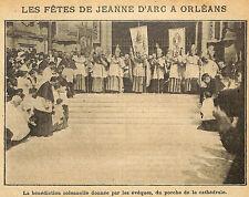 ORLEANS FETES DE JEANNE D' ARC VERS CANONISATION ILLUSTRATION 1911