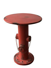 Industrial Style Metal Distressed Red Hydrant SideTable/Coffee Table