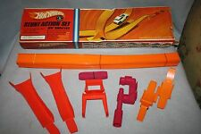VINTAGE 1960'S MATTEL HOT WHEELS STUNT ACTION SET STOCK NO. 6201 MISSING CAR & D