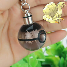 LED Nocturna Luz Regalo Llavero Key ring Crystal Ball Pokemon Pokeball Ninetales