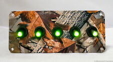 HYDRO PAINTED MOSSY OAK STYLE CAMO PATTERN  WITH 5 GREEN TOGGLE SWITCHES