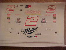 BRAND NEW 1997 RUSTY WALLACE #2 MILLER SPECIAL 1/24-1/25 WATER SLIDE DECAL SHEET