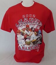 Los Angeles Angels of Anaheim 2002 League Champions Men's Red T-Shirt Size Large
