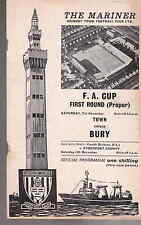 Grimsby Town v Bury Nov 1970 FA Cup 1st Round (proper) programme good condition
