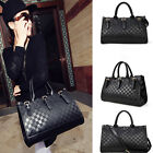 Womens Lady Messenger Bag Fashion PU Leather Black Handbag Tote Shoulder Bag