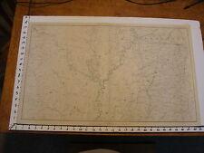 """1891 Civil War Map 18"""" X 29"""": Topographical Plate CLIV: LITTLE ROCK, MEMPHIS"""