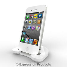 White Mobile Phone Stand Desk Top Phone Holder - iPhone iPod Android 0005-001