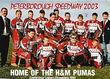 Speedway Programme PETERBOROUGH PUMAS v WIMBLEDON DONS Apr 2003