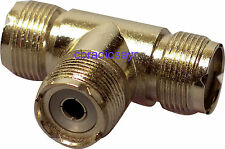 PL T Connector Female/Female/Female NC559 For CB Radio Antennas Aerials