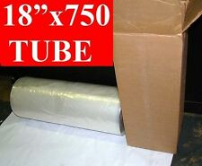 "18"" x 750' long POLY TUBING Roll 2mil Tube 3"" Core FREE SHIPPING"