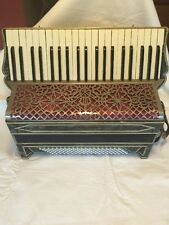 Antique - Vintage Full Size Accordion With Hard Side Case By Geib Company.