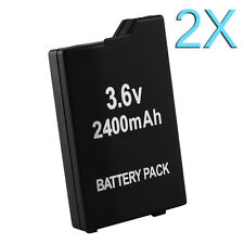 2X 2400mAh 3.6V Rechargeable Li-ion Battery Pack for Sony PSP SLIM 2000 3000 New