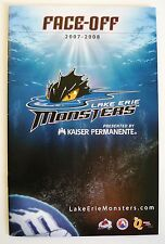 Lake Erie Monsters 2007-08 Game Program AHL Hockey Quicken Loans Arena MINT