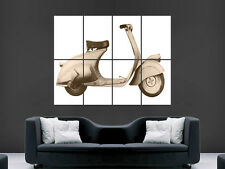 FIRST VESPA MP 5 CLASSIC SCOOTER BIKE  ART WALL LARGE IMAGE GIANT POSTER