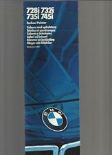 BMW 7 SERIES COLOURS & UPHOLSTERY BROCHURE 1984 1985 MULTILINGUAL INC.ENGLISH