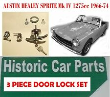 3 PIECE DOOR/BOOT LOCK SET for AUSTIN HEALEY SPRITE Mk 4 1275cc 1966-74