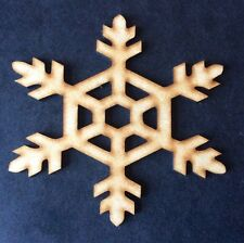 Christmas Snowflake X 10 Wooden Craft Shape 40 X 40 X 3mm Mdf wood