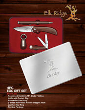 ElK Ridge Limited Edtion 4 Piece Gift Knife Set w/ Custom Ink Pen & Key Chain