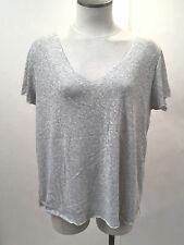 Project Social T Women's V-Neck Shirt Textured Knit Grey MD NEW Urban Outfitters