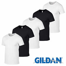 5 Pack BLACK Gildan Mens Tshirt Plain Cotton T Shirt Wholesale Workwear Sale Top