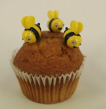 6 x Easter Bumble Bee Plastic Cupcake Topper Cake Decoration