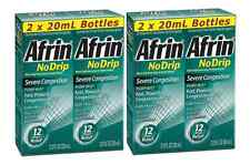 Afrin® No Drip Severe Congestion pump mist nasal spray 4/20ml four pack 2.66 oz