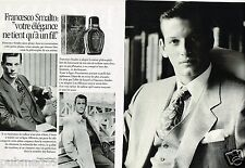 Publicité advertising 1991 (2 pages) Homme Eau de Toilette Francesco Smalto