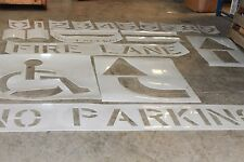 Titan Line Striper Large Stencil Kit 0290934 Fire Lane No Parking Arrows 0-9