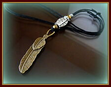 Feather PENDANT Jewelry - Indian style - Vintage Art Deco look - FSU Seminoles