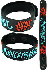 PIERCE THE VEIL  NEW! Bracelet Wristband aa101 Collide with the Sky /Blue & Red