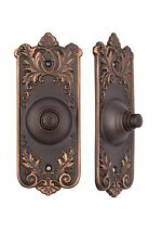 French Lorraine pattern bronze doorbell button