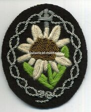 ~ aged looking German OFFICER new Edelweiss arm patch mountain troops ~
