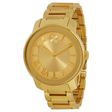 Movado Bold Champagne Dial Yellow Gold IP Steel Watch 3600197