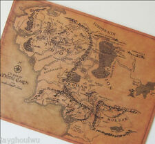 """20""""The Lord of the Rings Middle Earth Map Nostalgia Vintage Ornament Wall Poster"""