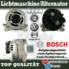 VW AUDI SEAT SKODA 120A ALTERNATOR LICHTMASCHINE ORIGINAL BOSCH