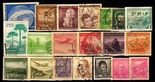 CHILE-20 Different Used Large & Small Genuine Postage Stamps