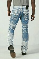 True Religion Brand Jeans Midnight Bark White Painted Relaxed Ricky Super T 32