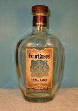 Four Roses Small Batch Bourbon Whiskey Empty Bottle Wood & Cork Cap 750 ml