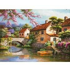 Bridge River DIY Digital Drawing Beautiful Oil Painting By Number On Canvas Gift