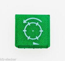 Schalter Symbolschild Grün Start Antrieb Drehen Rund Hella ENG Symbolscheibe