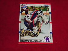 stephane beauregard (winnipeg jets -goalie)1990/91 score rookie card #282 mint