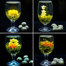 Stylish 4 Balls Different Handmade Blooming Flower Green Tea Wedding Home Gift