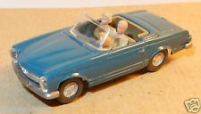 rare MICRO WIKING HO 1/87 MERCEDES BENZ 230 SL CABRIOLET 1965 bleu turquoise 14b