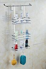 Hanging Bathroom Over Door Stainless Steel US Shower Caddy Shelves Tidy Storage