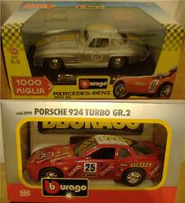 Burago Porsche924turbo scala1:24/5 Mercedes-Benz 300SL 1954,1000 Miglia-scegli