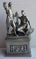 Rare Russian Soviet Monument MININ and POZHARSKY metal bust statue sculpture