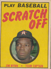 1970 Topps Baseball Scratch Off Game Card - Jim Wynn - Ex