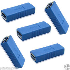 5x USB 3.0 Typ A Buchse auf Buchse Adapter Kupplung Gender  Changer Verbinder